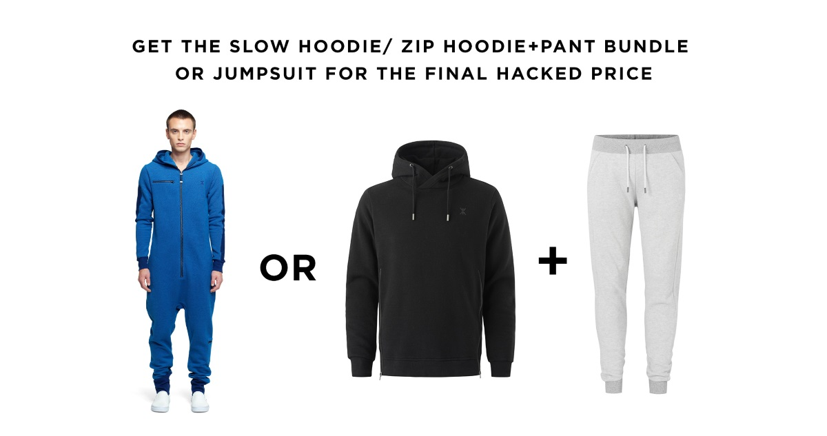 Slow jumpsuit and slow hoodie and pants bundle